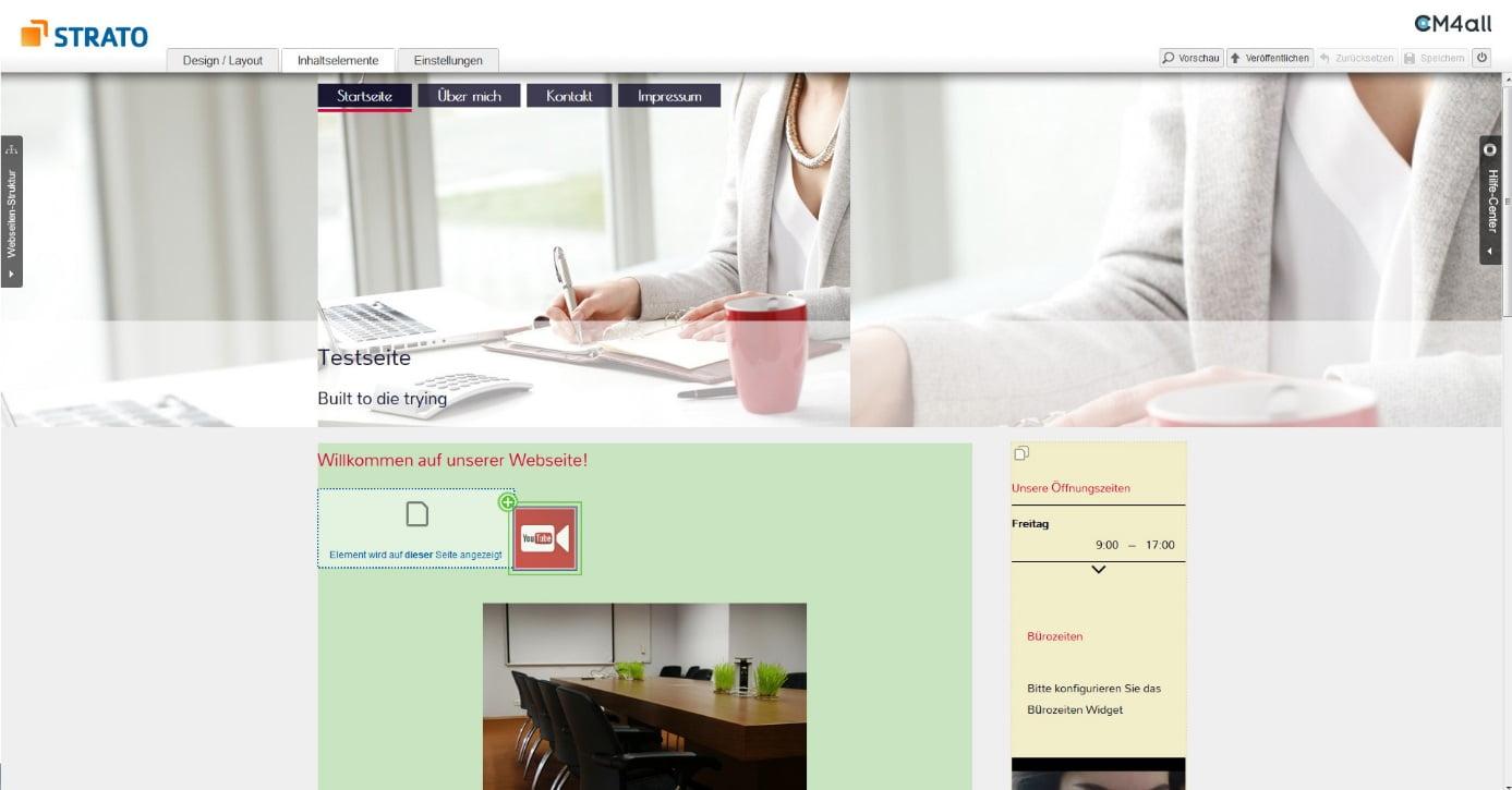 homepage baukasten designs eigene homepage erstellen anleitung. Black Bedroom Furniture Sets. Home Design Ideas