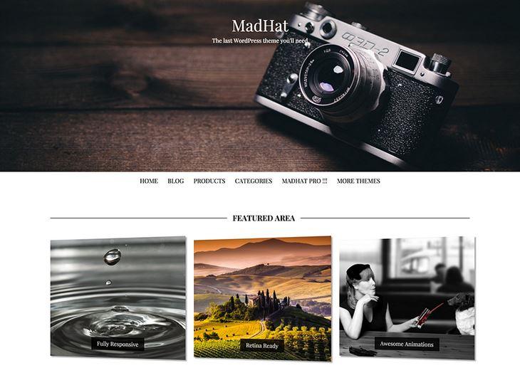 Das Theme MadHat wurde speziell für Fotoblogs in WordPress konzipiert
