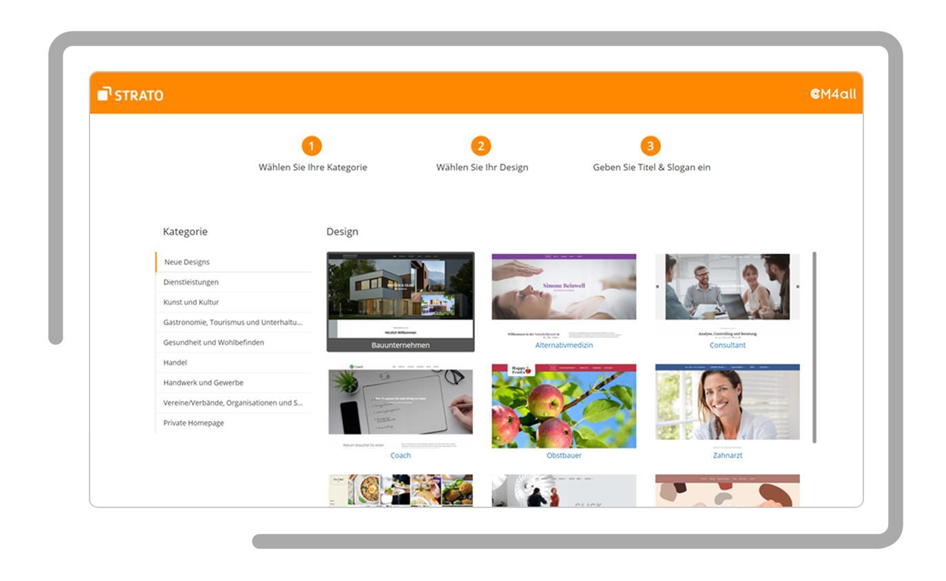 Über 20 Website Templates – für jede Branche   STRATO
