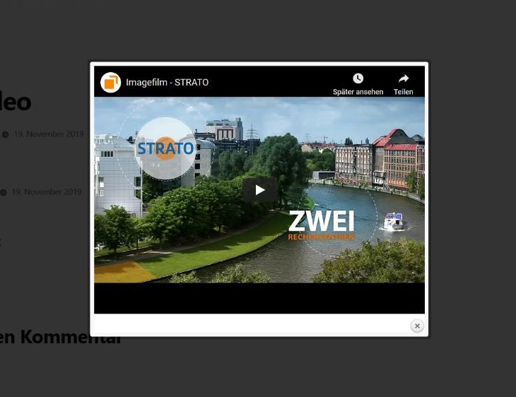 WordPress Lightbox-Gallery-Plug-in: WP Video Lightbox