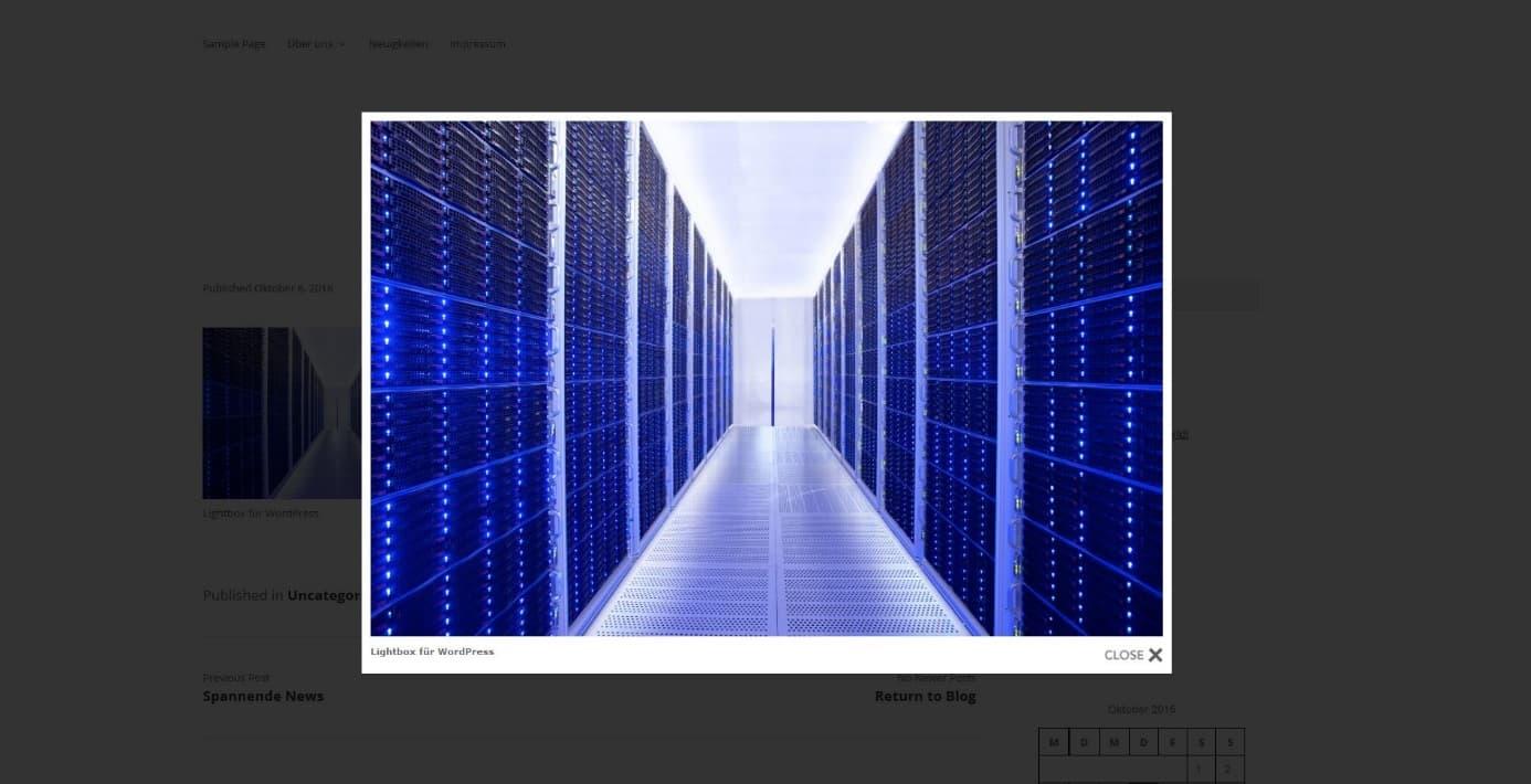Mit Dem Wordpress Lightbox Plug In Bilder Anzeigen Strato