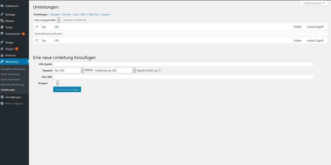 Den WordPress Redirect mit dem passenden Plug-in einrichten