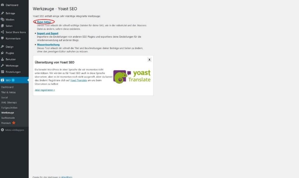 robots.txt-Datei mit WordPress-Plug-in ändern