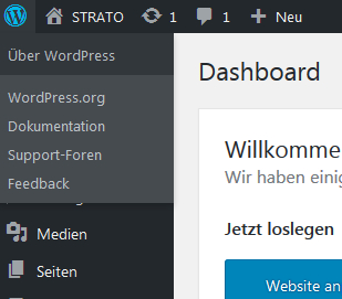 WordPress-Tutorial: Links zu Hilfen im Backend