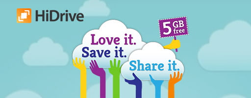 2011 - Love it. Save it. Share it. Free HiDrive, 5 GB for free!