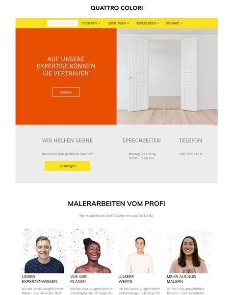 Creative Project – www.strato-demo-maler.de