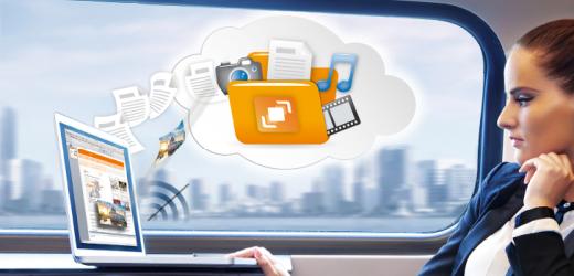 Auch im Zug hast Du mit HiDrive Sync Deine Daten bearbeiten