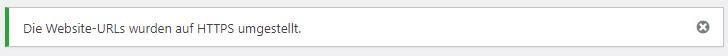 Die Website-URLs wurden auf HTTPS umgestellt