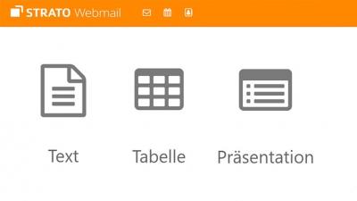 Dokumente in Webmail bearbeiten mit STRATO Documents