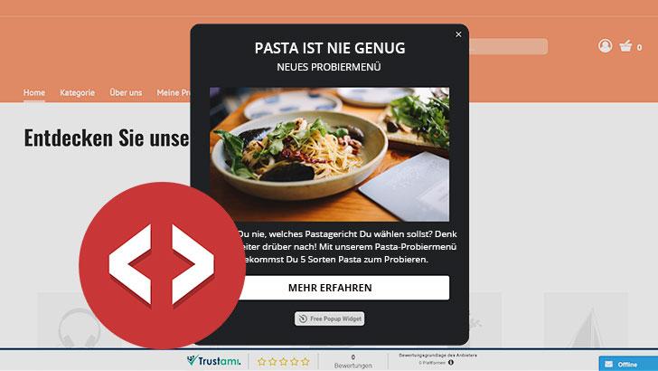Das kannst Du mit dem HTML-Widget im Webshop machen