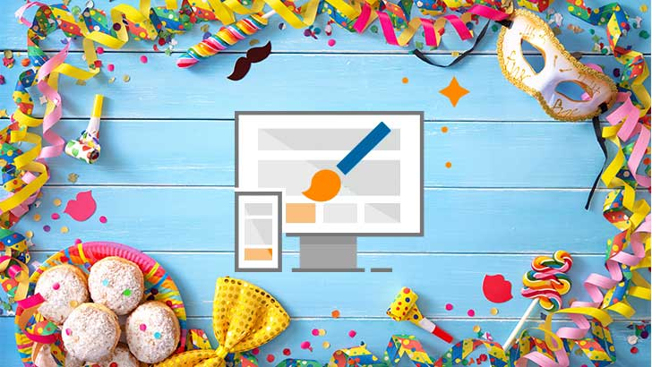 Alaaf und helau: Wie Du an Karneval blitzschnell Deine Website verkleidest