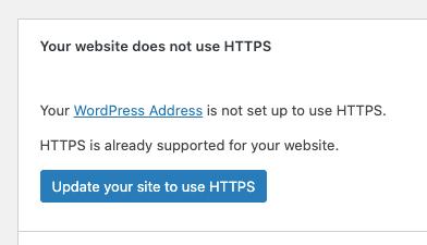 WordPress 5.7: van HTTP naar HTTPS