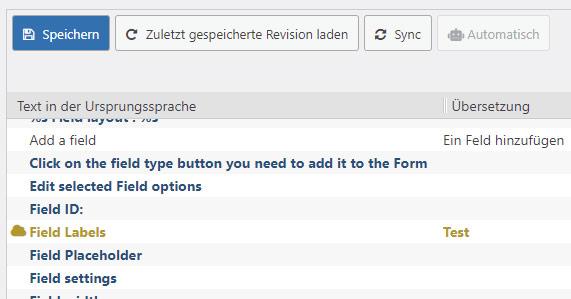 Screenshot: Die Sync-Funktion von Loco Translate zeigt Begriffe an, die durch ein Update verändert wurden.