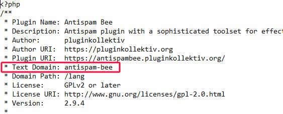 Screenshot zeigt, wie der entsprechende Vorgang bei dem Plugin Antispam-Bee aussieht.
