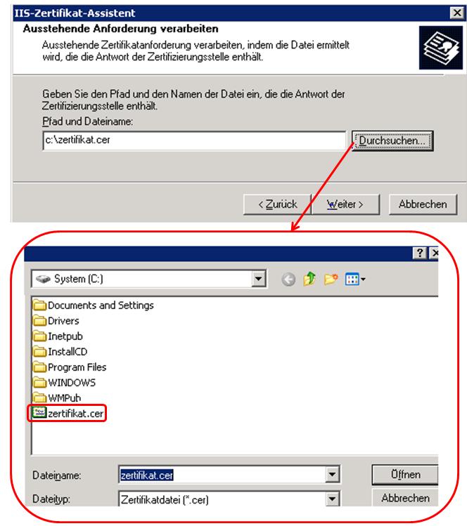 So Richten Sie Ein Ssl Zertifikat Unter Windows Server 2003 Ein