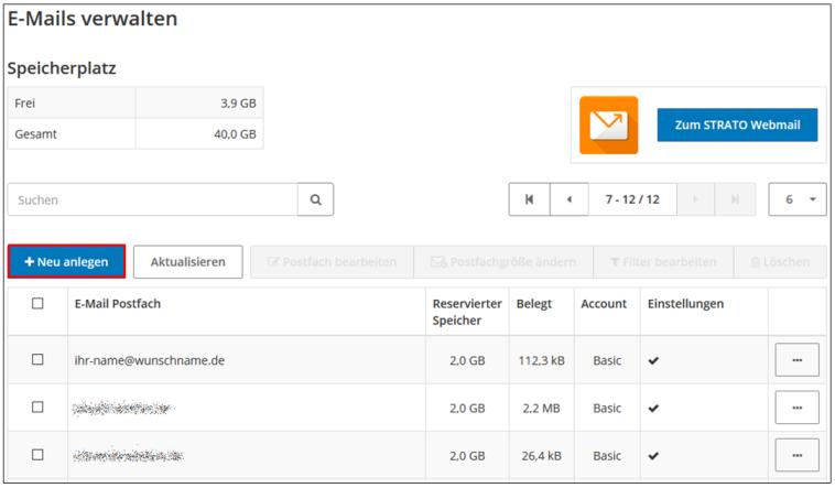 So richten Sie E-Mail Adressen im STRATO Kunden-Login ein