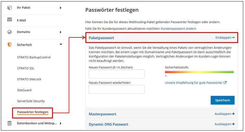 Strato Domain ändern welche passwörter werden bei strato verwendet