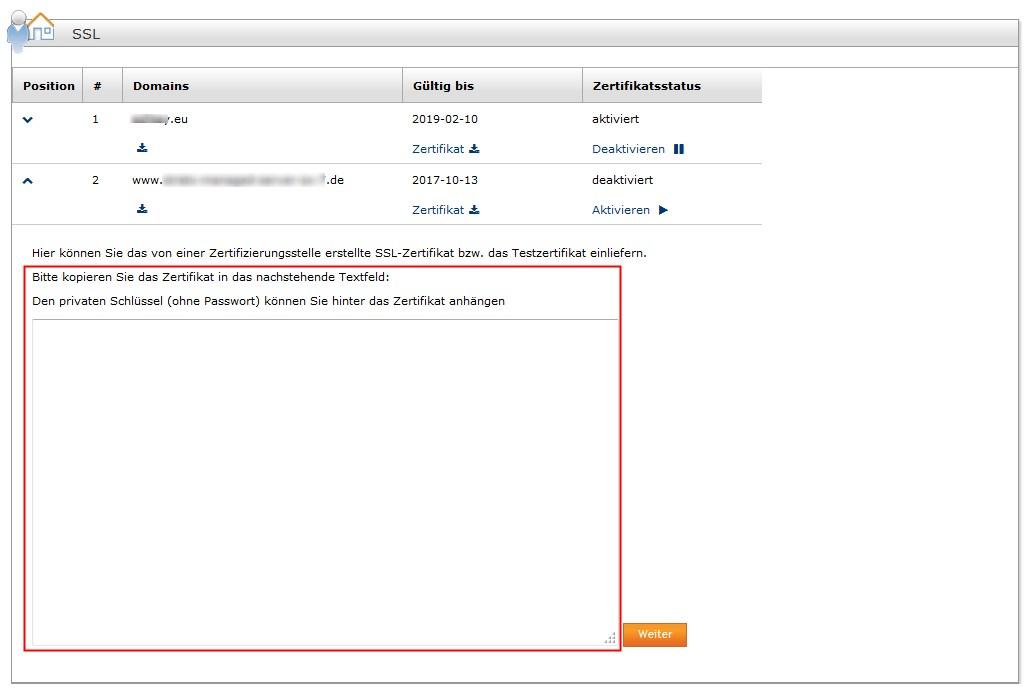 Wie kann ich ein SSL-Zertifikat auf einem anderen Server nutzen?