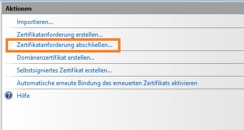 So verwalten Sie ein SSL-Zertifikat unter Windows Server 2012