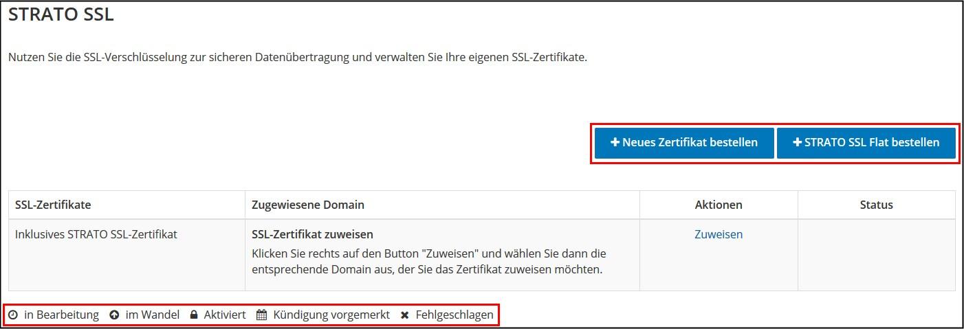 So nutzen Sie STRATO SSL-Zertifikate