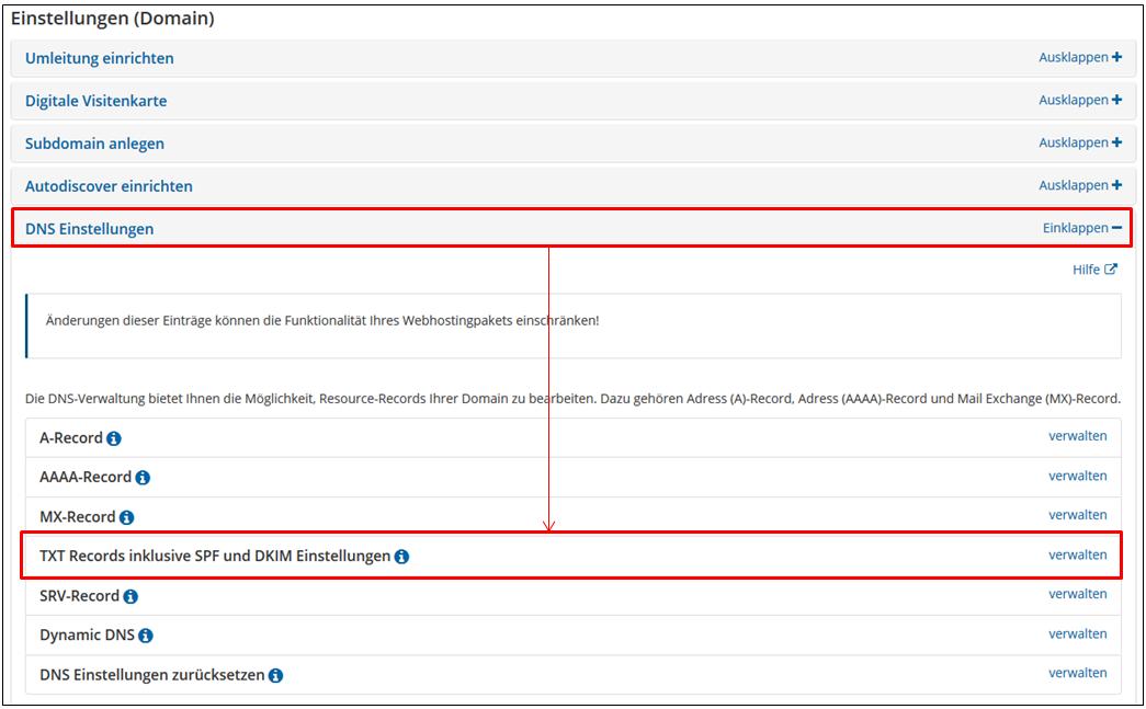 Strato Domain ändern wie kann ich für meine domain die dkim einstellungen ändern