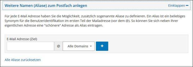Die Konfigurationsmöglichkeiten In Der E Mail Verwaltung
